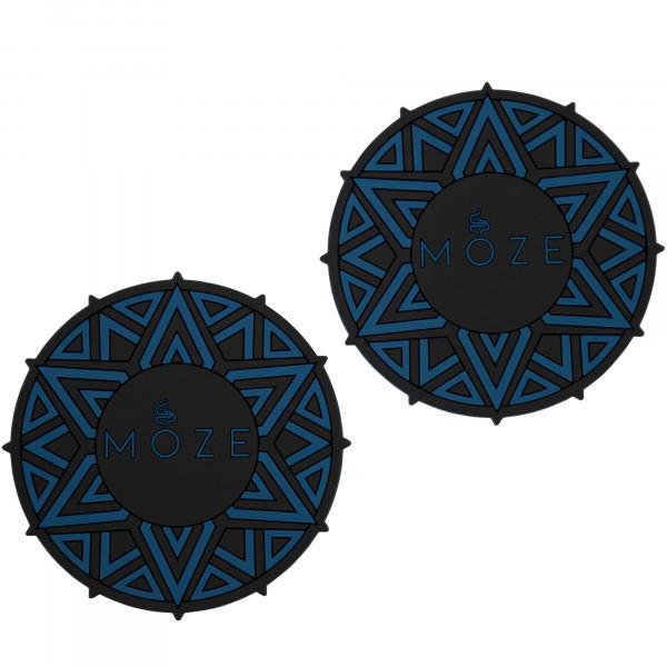 Moze Getränkuntersetzer (2er Set) - Blue