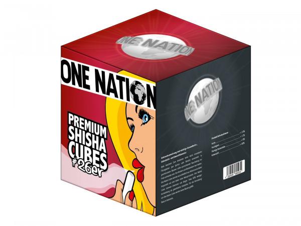 One Nation Premium 26er Naturkohle 1kg