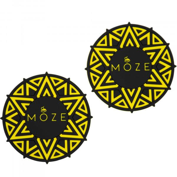 Moze Getränkeuntersetzer (2er Set) - Yellow