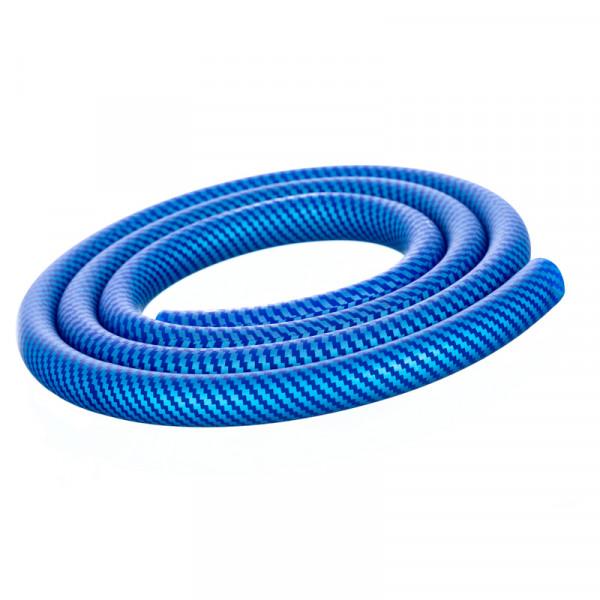 Silikonschlauch Carbon Blau